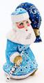 Walking Santa with Birch Staff - Blue Coat | Grandfather Frost / Russian Santa Claus