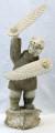Whalebone Shaman Dancer by Ron Ekemo | Whalebone / Walrus Jawbone Carving