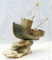 Whalebone Fishing Trawler by Andrei Vasseka | Whalebone / Walrus Jawbone Carving