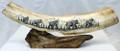 Walking Mammoths Scrimshaw by George Vukson