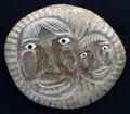 Mother and Child Mask | Alaska Whalebone / Fur Mask