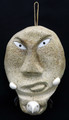 Eagle Spirit Mask with Labrets | Alaska Whalebone / Fur Mask