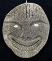 Smiling Whalebone Spirit Mask | Alaska Whalebone / Fur Mask