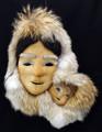 Mother and Child - Mask by Charlene Killbear | Alaska Whalebone / Fur Mask