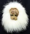 Child Mask II by Charlene Killbear | Alaska Whalebone / Fur Mask