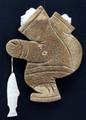 Fishing Eskimo Woman | Alaska Whalebone / Fur Mask