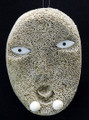 Whalebone Mask with Labrets | Alaska Whalebone / Fur Mask