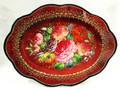 Floral Fantasy - Medium Red Tray | Zhostovo Tray
