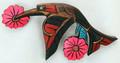 Hummingbird with Flowers | Northwest Coast Totemic Art