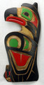 Raven with Salmon by George Matilpi | Northwest Coast Totemic Art