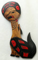 Wolf with Moon by Delbert Peter | Northwest Coast Totemic Art