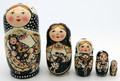 5pc Classic Mother and Kids Matryoshka