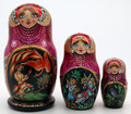3 Piece Firebird | Fine Art Matryoshka Nesting Doll
