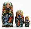 3 Piece Morozko | Fine Art Matryoshka Nesting Doll