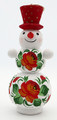 Large Snowman - Red Hat | Russian Christmas Ornament