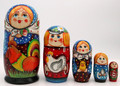5 Piece Classic Village Matryoshka