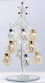 Glass Tree Clear with Silver & Gold Ornaments