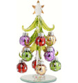 Glass Tree Green Bright Ornaments
