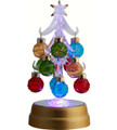 Glass Tree Light Up with Ornaments