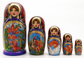 Kaleidoscope of Russian Fairy Tales 5 pc Matryoshka