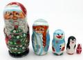 Santa with Christmas Tree | Traditional Matryoshka Nesting Doll