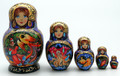5 Piece Firebird | Fine Art Matryoshka Nesting Doll
