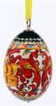 Khokhloma Egg Christmas Ornament