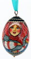 Girl with Cat Christmas Ornament Egg