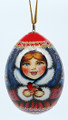 Snegurochka with Bird Christmas Ornament Egg Large