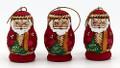 Santa Mini Ornaments - Set of 3