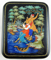 On the Swings | Palekh Lacquer Box