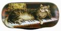 Russian Painted Eyeglass Case - Kitten