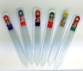 Glass Nail File with Nesting Doll - Set of 3