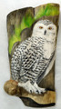 Painted Driftwood - Aurora Borealis and an Owl