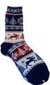 Alaska Towel Socks Moose Snowflake