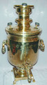 The body of the samovar is in excellent condition with some minor mineral deposit in the interior due to use. The samovar measures approximately 51cm high and has a volume of approximately 7 liters.