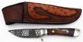 Custom Steve Nolte Knife - Mosaic Damascus Blade