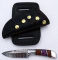 Damascus Knife - Side Sheath