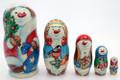 Happy Snowman Family | Fine Art Matryoshka Nesting Doll