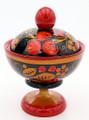 Khokhloma Little Vase with Lid
