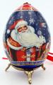 Santa and Snowmaiden Christmas Ornament Egg