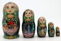Matryoshka with Village Scenes