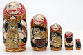 Village Girl with Red Cat - Red Scarf | Traditional Matryoshka Nesting Doll