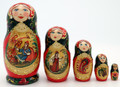 5 Piece Firebird and Ivan | Fine Art Matryoshka Nesting Doll