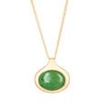 Nephrite Jade Oval Pendant