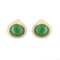 Nephrite Jade Oval Post Earrings