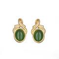 Jade Oval Post Earrings