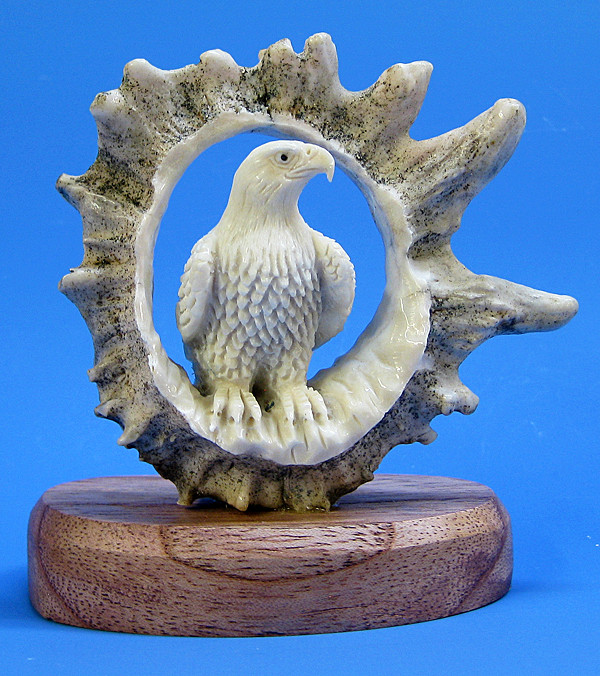 Moose Antler Eagle Bone And Antler Carvings