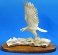 Bald Eagle with Fish Moose Antler Carving | Bone and Antler Carvings