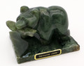 Hand Carved Alaskan Jade Grizzly Bear